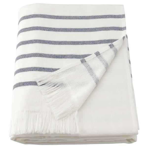 SIESJÖN Bath towel, white/blue stripe, 70x140 cm