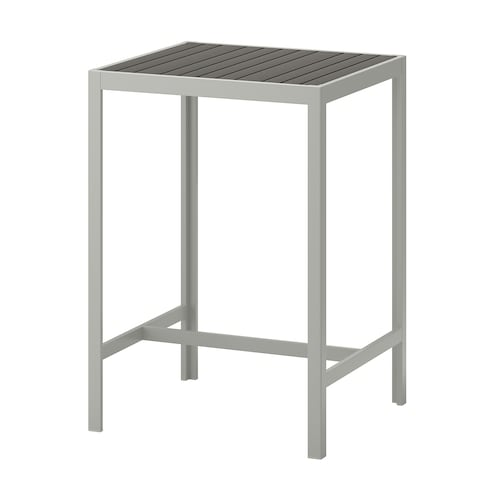 SJÄLLAND bar table, outdoor dark grey/light grey 71 cm 71 cm 103 cm