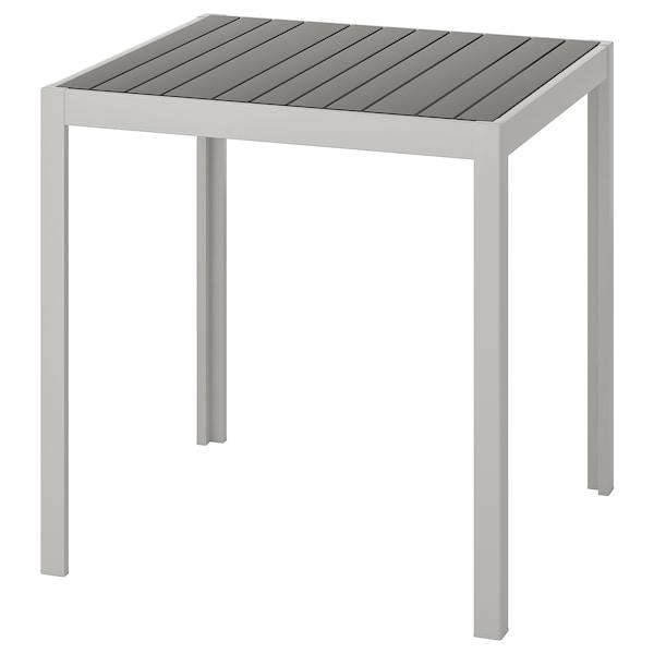 SJÄLLAND Table, outdoor, dark grey/light grey, 71x71x73 cm