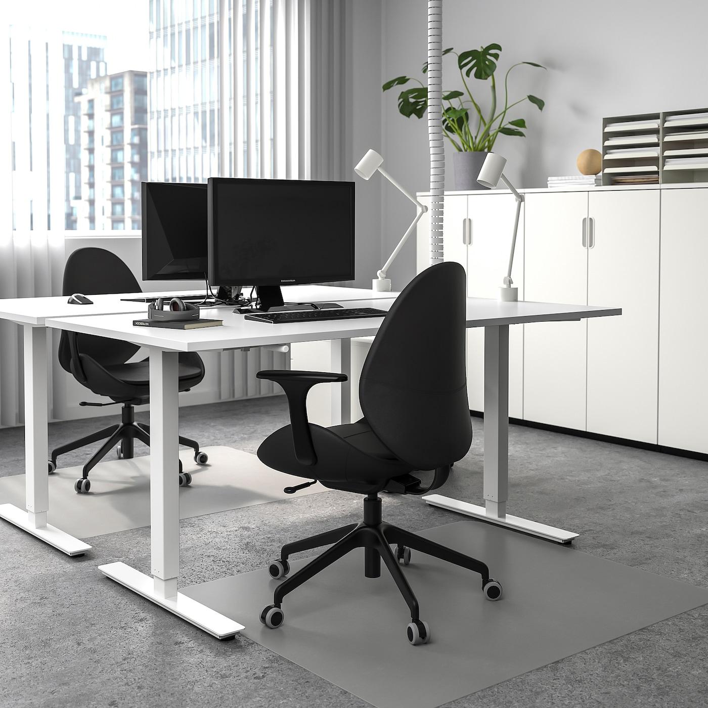 SKARSTA Desk sit/stand - white 38x38 cm