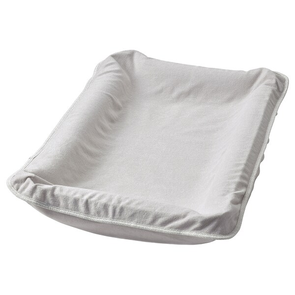 SKÖTSAM غطاء لمفرش عناية بالأطفال, رمادي, 83x55 سم