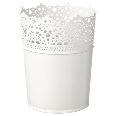 SKURAR Plant pot, in/outdoor/off-white, 10.5 cm