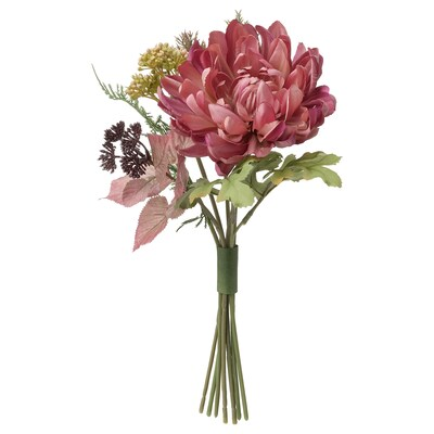 SMYCKA Artificial bouquet, in/outdoor/Chrysanthemums purple, 30 cm