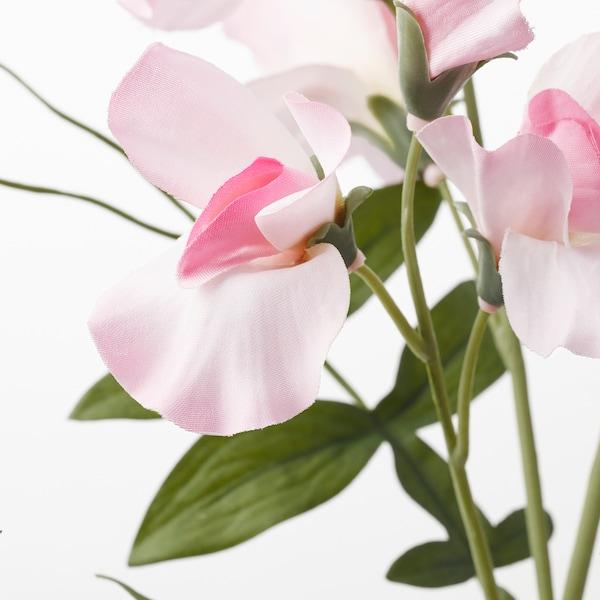 SMYCKA زهرة إصطناعية, بازيلاء حلوة./زهري فاتح, 60 سم