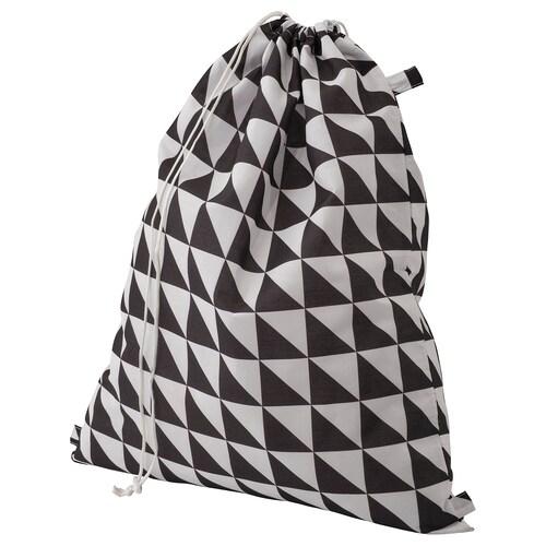 SNAJDA laundry bag black/white 60 l