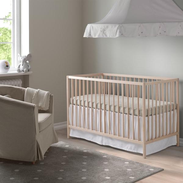 SNIGLAR سرير طفل, زان, 60x120 سم