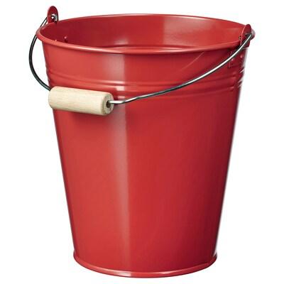 SOCKER سطل/آنية نبات, داخلي/خارجي/أحمر, 2.5 ل