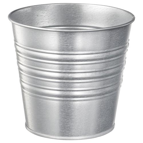 SOCKER plant pot in/outdoor/galvanised 12 cm 14 cm 12 cm 13 cm