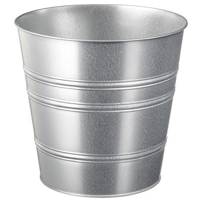 SOCKER Plant pot, in/outdoor/galvanised, 24 cm