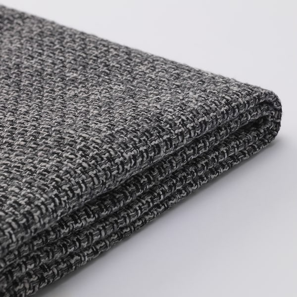 SÖDERHAMN Footstool cover, Lejde grey/black