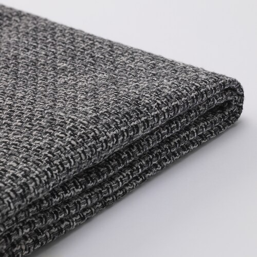SÖDERHAMN footstool cover Lejde grey/black