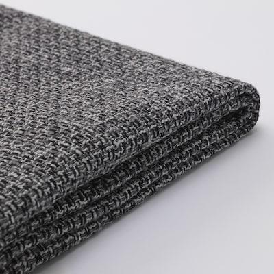 SÖDERHAMN Footstool cover, Lejde grey/black