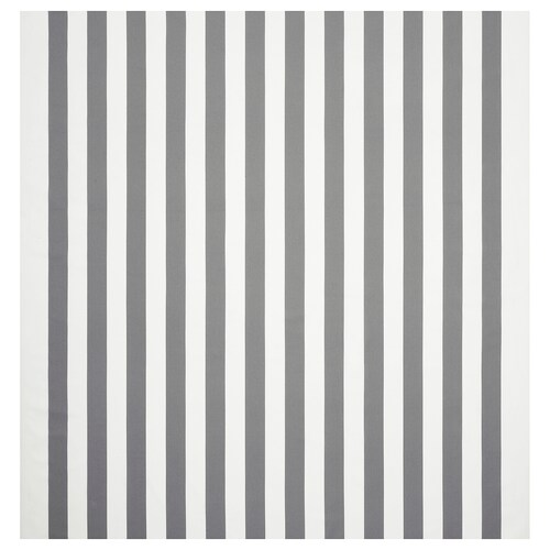 SOFIA fabric broad-striped/white/grey 280 g/m² 150 cm 1.50 m²