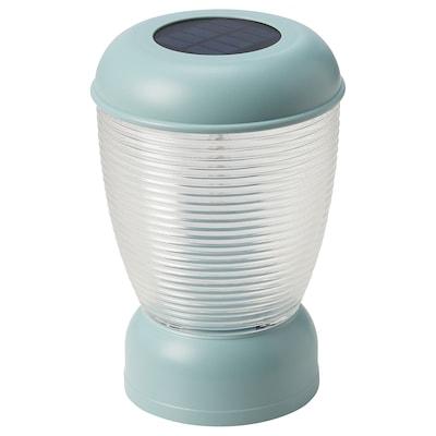 SOLVINDEN LED solar-powered table lamp, blue
