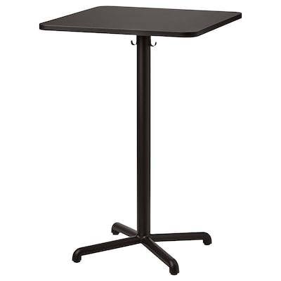STENSELE Bar table, anthracite/anthracite, 70x70 cm
