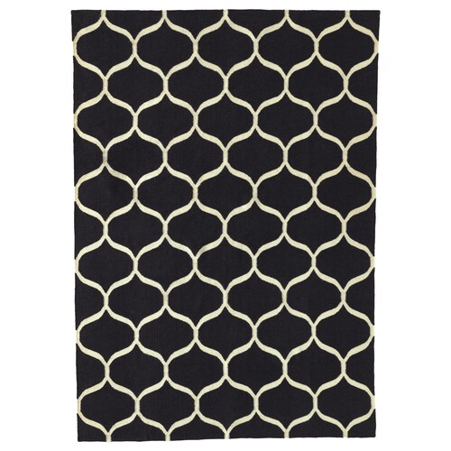 STOCKHOLM 2017 rug, flatwoven handmade/net pattern blue 240 cm 170 cm 4 mm 4.08 m² 1350 g/m²