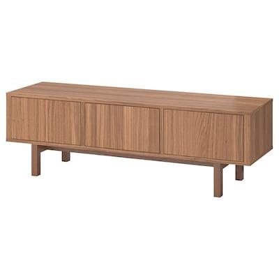 STOCKHOLM طاولة تلفزيون, قشرة خشب الجوز, 160x40x50 سم