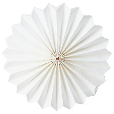 STRÅLA غطاء مصباح, فن طي الورق/أبيض, 34 سم