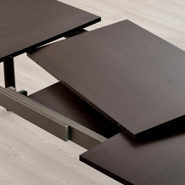 STRANDTORP طاولة قابلة للتمديد, بني, 150/205/260x95 سم