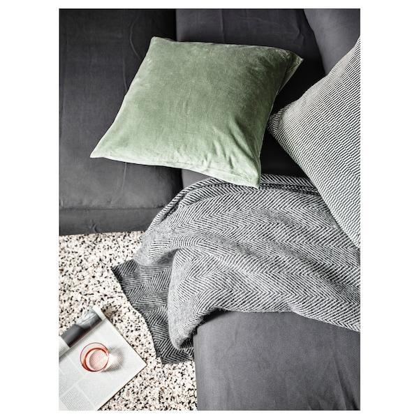 STRIMLÖNN throw grey 200 cm 150 cm