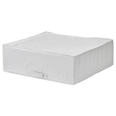 STUK صندوق تخزين, أبيض/رمادي, 55x51x18 سم
