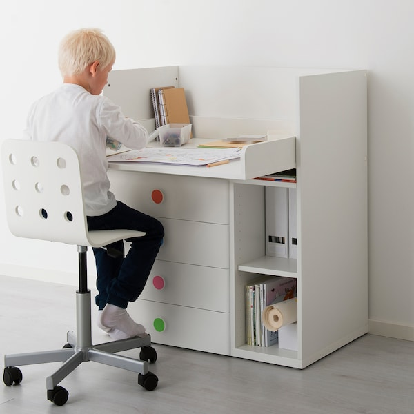 STUVA / FÖLJA Changing table with 4 drawers, white, 90x79x102 cm