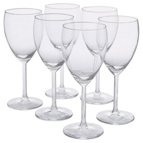 SVALKA white wine glass clear glass 18 cm 25 cl 6 pieces