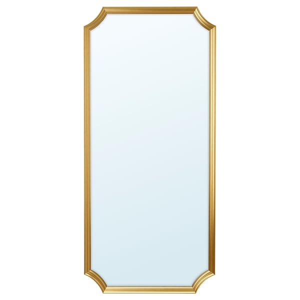 SVANSELE Mirror, gold-colour, 73x158 cm