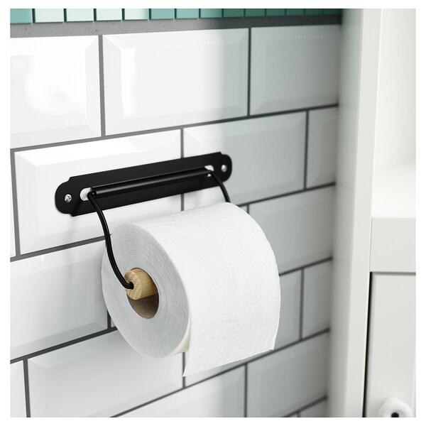 SVARTSJÖN Toilet roll holder, black