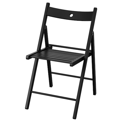 TERJE folding chair black 100 kg 44 cm 51 cm 77 cm 38 cm 33 cm 46 cm