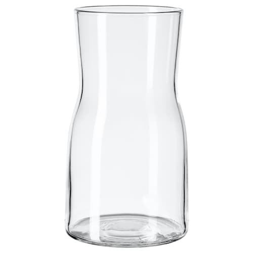 TIDVATTEN vase clear glass 17 cm