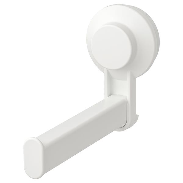 TISKEN toilet roll holder with suction cup white 15 cm 3 kg