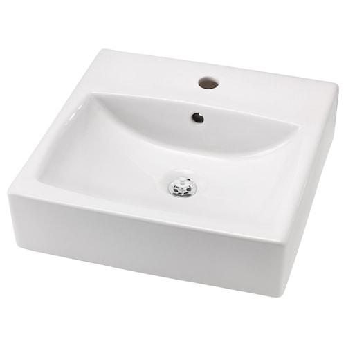 TÖRNVIKEN countertop wash-basin white 45 cm 45 cm 12 cm 10 cm