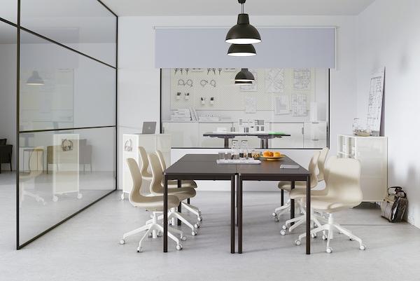 TOMMARYD طاولة, فحمي, 130x70 سم