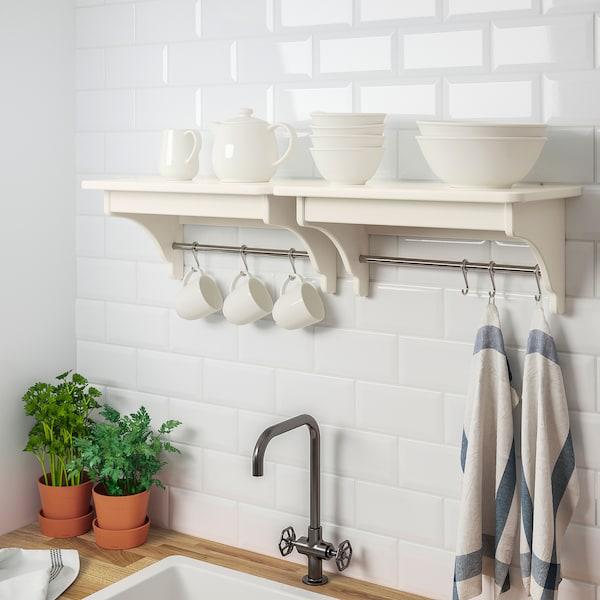 TORNVIKEN Wall shelf, off-white, 50 cm