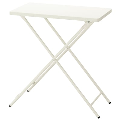 TORPARÖ Table, in/outdoor, white/foldable, 70x42 cm