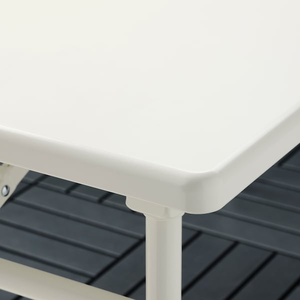 TORPARÖ طاولة، خارجية, أبيض/قابل للطي, 130x74 سم