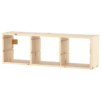 TROFAST تخزين حائطي, صنوبر مصبوغ أبيض فاتح, 93x30 سم