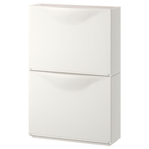 TRONES shoe cabinet/storage white 52 cm 18 cm 39 cm 2 pieces