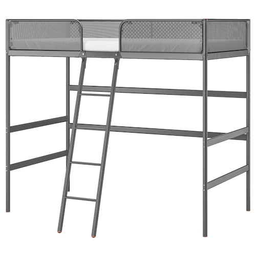 TUFFING loft bed frame dark grey 208 cm 145 cm 97 cm 179 cm 100 kg 200 cm 90 cm 15 cm