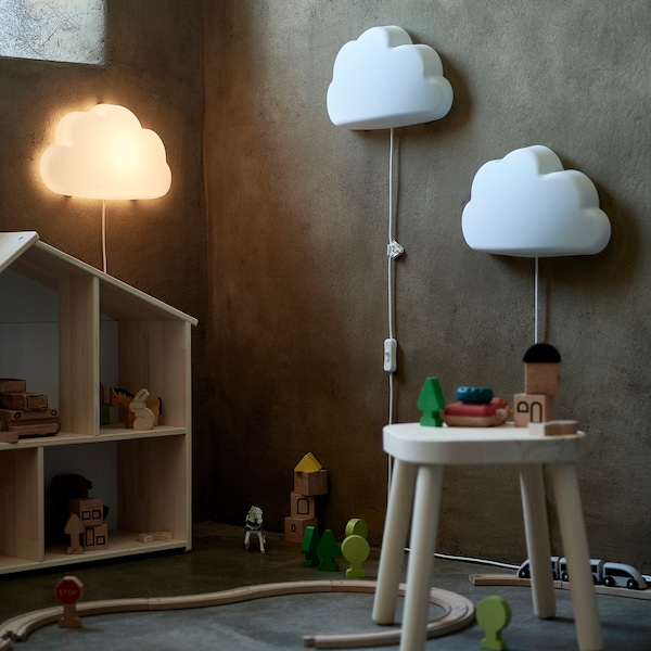 UPPLYST مصباح حائط LED, سحاب أبيض