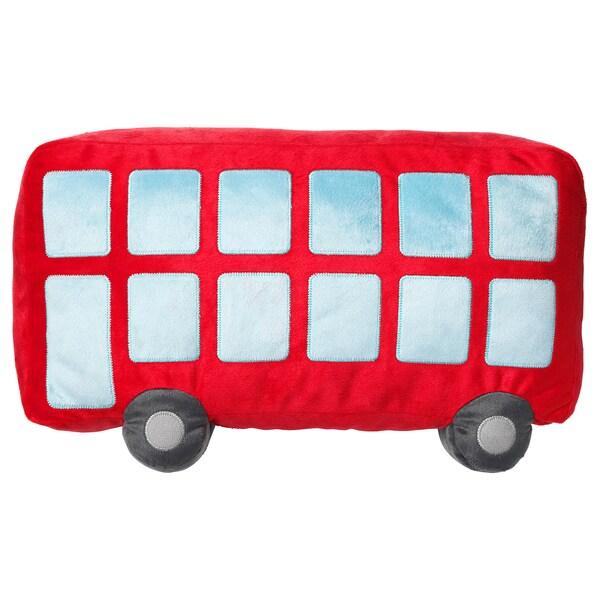 UPPTÅG وسادة, أحمر, 45x27 سم