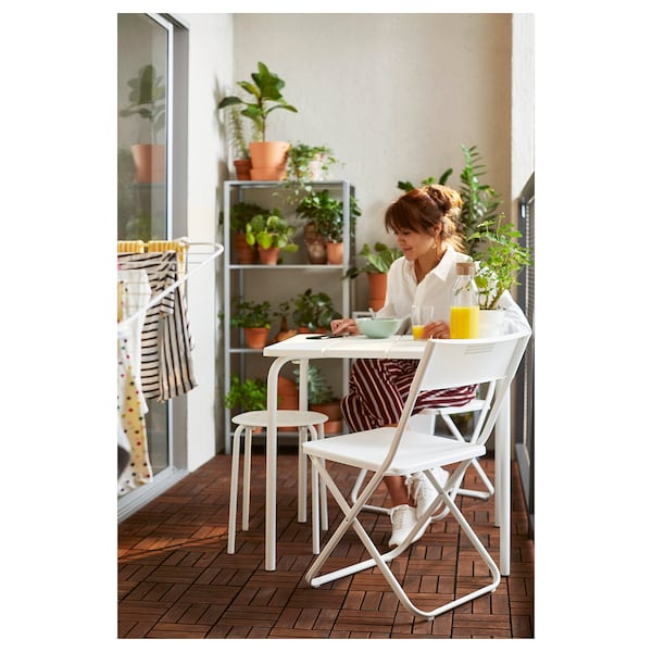 VÄDDÖ table, outdoor white 58 cm 74 cm 71 cm