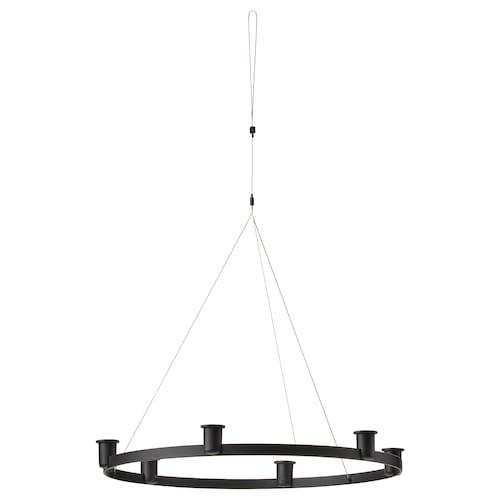 VÄRMER chandelier for 6 candles black 5 cm 54 cm
