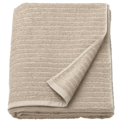 VÅGSJÖN bath sheet beige 150 cm 100 cm 1.50 m² 400 g/m²