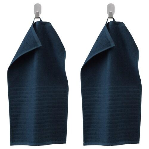 VÅGSJÖN guest towel dark blue 50 cm 30 cm 0.15 m² 400 g/m² 2 pieces