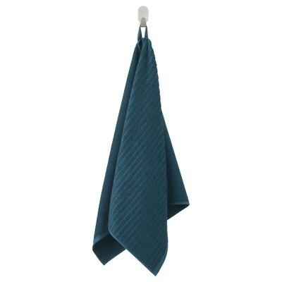 VÅGSJÖN Hand towel, dark blue, 50x100 cm