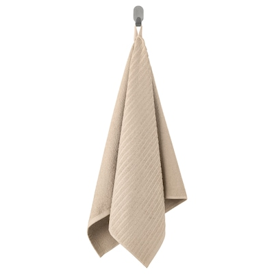 VÅGSJÖN Hand towel, light beige, 50x100 cm