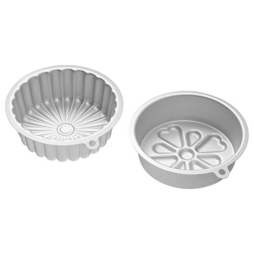 VARDAGEN baking tin silver-colour 0.5 l 2 pieces