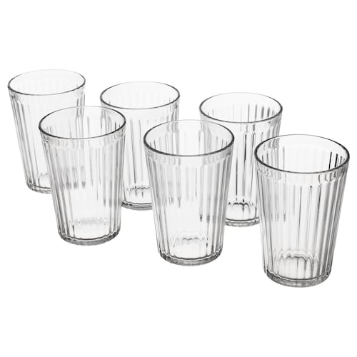 VARDAGEN glass clear glass 11 cm 31 cl 6 pieces